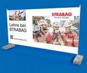 3400 x 1730 mm 4 farbig Mesh Bauzaun-Werbebanner mit Ihrem Logo