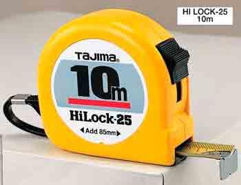 10m ,25mm breites Stahl-Bandmaß Tajima
