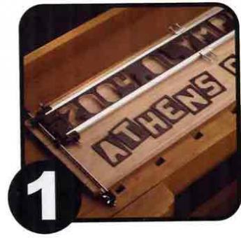 """1  1/2""""- 43mm, Buchstaben + Zahlen Set , Horizontal, 41tlg"""