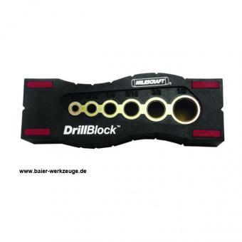 Drillblock - Bohrschablone mit  Ø  4,5,6,8,10,12 mm Bohrbüchsen