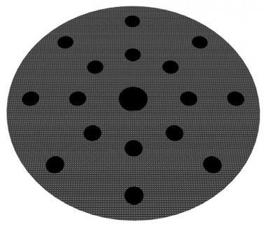 Schleifteller, Ø 147mm  8+8+1-Loch, hart, Klauenkupplung