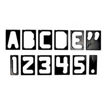 """2  1/2"""" - 70mm Buchstaben + Zahlen Set, Horizontal, 41tlg."""