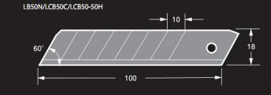 Razar Black 18 mm Cutterklinge