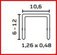 Klammern  a 5000St. 10mm lang,  für Hammertacker Nr. 11 geeignet.