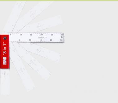 Klappwinkel 200 mm, rastet bei 8 verschiedenen Winkeln ein.