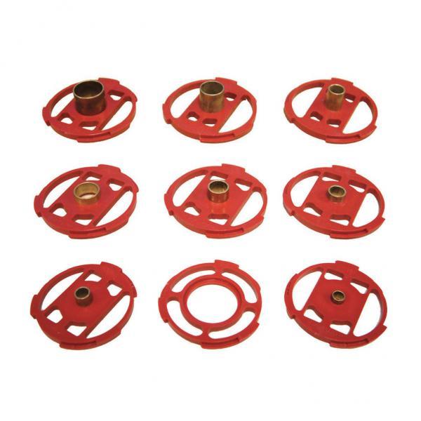 Metall-Führungshülsen-Set 9 tlg. für die Oberfräse