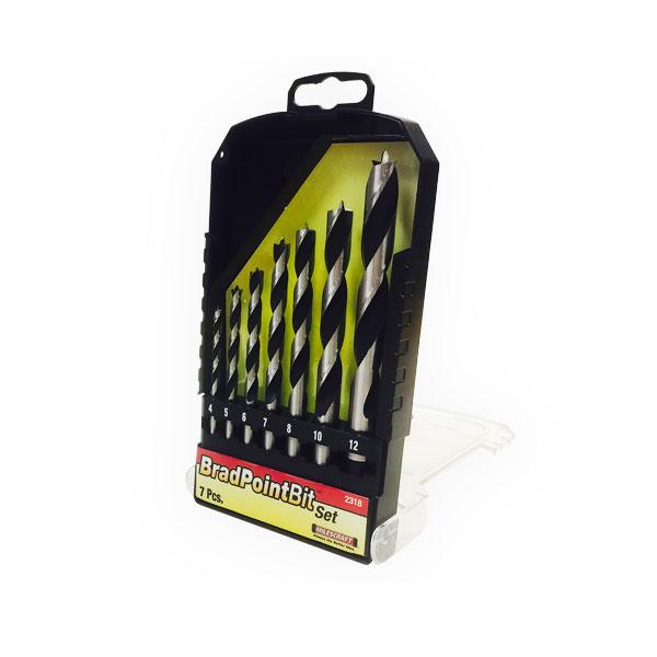 7 tlg. Holzbohrer-Set mit Zentrierspitze  Ø4, 5, 6, 7, 8, 10, 12mm