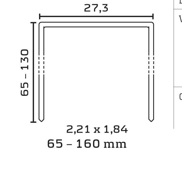 246/120mm lang RF-A2 HZ Breitrückenklammern- rostfrei - geharzt