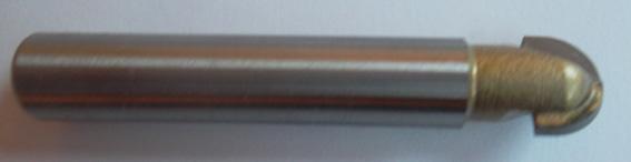 Hohlkehlfräser, 9,5mm Durchmesser, Gesamtlänge 63mm Hartmetall