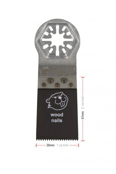 35 mm Breit, Bi-Metall - Tauchsägeblätter,