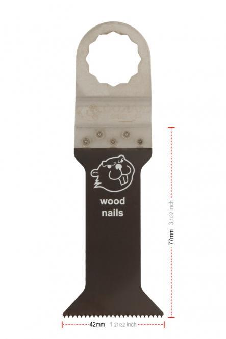 42 mm Breit Tauchsägeblätter,  77mm tief, Bi-Metall,